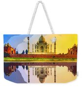 Taj Mahal At Sunrise Weekender Tote Bag