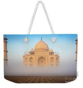 Taj Mahal In The Mist Weekender Tote Bag