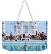Taj Mahal  Weekender Tote Bag by Nila Newsom