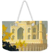 Taj Mahal Visit India Vintage Travel Poster Restored Weekender Tote Bag