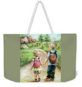 Take My Hand Little Sis Weekender Tote Bag