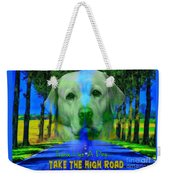 Take The High Road Weekender Tote Bag by Kathy Tarochione