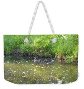 Taking A Stroll With Mom Troughs Floral Reflections Weekender Tote Bag