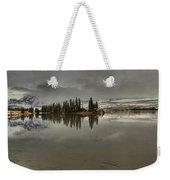 Talbot Lake Stormy Panorama Weekender Tote Bag
