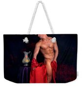 Talk About It Weekender Tote Bag by Mark Ashkenazi