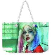 Talking To Harley Quinn - Aquarell Style Weekender Tote Bag