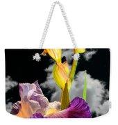 Tall Bearded Iris Weekender Tote Bag