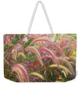 Tall, Colorful, Whispy Grasses In The Sumer Breeze Weekender Tote Bag