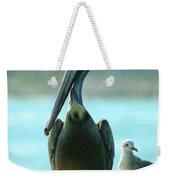 Tall Pelican Weekender Tote Bag