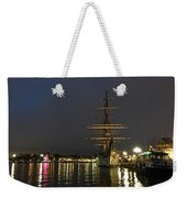 Tall Ship Docked At The Baltimore Inner Harbor Weekender Tote Bag