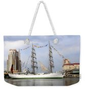 Tall Ship In Tampa Bay Weekender Tote Bag