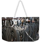 Tall Ship Lines Vi Weekender Tote Bag