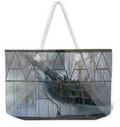 Tall Ship Through A Window Weekender Tote Bag