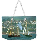 Tall Ships And Steam Trains Weekender Tote Bag