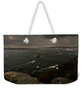 Tall Ships Heavy Rain And Wind In Sydney Harbour Weekender Tote Bag