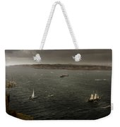 Tall Ships In The Entrance Of Sydney Harbour Weekender Tote Bag
