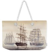 Tall Ships Weekender Tote Bag by James Williamson