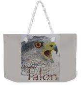 Talon Close Up Weekender Tote Bag