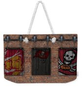 Tampa Bay Buccaneers Brick Wall Weekender Tote Bag