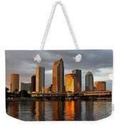 Tampa In Reflection Weekender Tote Bag