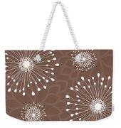 Tan Floral Weekender Tote Bag