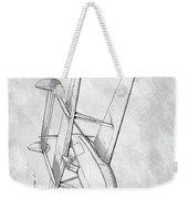 Tandem Biplane Patent Weekender Tote Bag