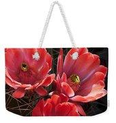 Tangerine Cactus Flower Weekender Tote Bag