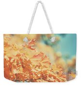Tangerine Leaves And Turquoise Skies Weekender Tote Bag