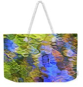 Tangerine Twist Mosaic Abstract Art Weekender Tote Bag