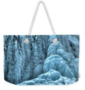 Tangle Falls Frozen In Blue Weekender Tote Bag