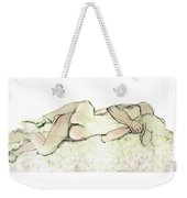 Tangled Together - Couple In An Embrace Weekender Tote Bag