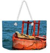Tanning Sea Lion On Buoy Weekender Tote Bag