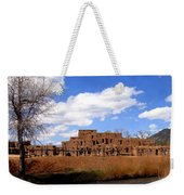 Taos Pueblo Early Spring Weekender Tote Bag