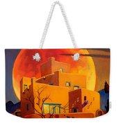 Taos Wolf Moon Weekender Tote Bag by Art West