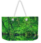 Tar River Reflection Weekender Tote Bag