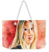 Tara Summers In Boston Legal Weekender Tote Bag