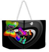 Target Heart Weekender Tote Bag