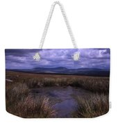 Tarn On The Slopes Of Whernside With Pen-y-ghent On The Horizon Yorkshire Dales England Weekender Tote Bag