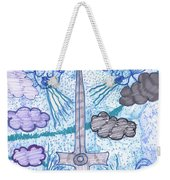 Tarot Of The Younger Self Ace Of Swords Weekender Tote Bag