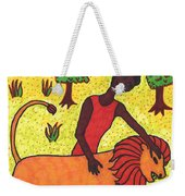 Tarot Of The Younger Self Strength Weekender Tote Bag