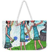 Tarot Of The Younger Self Three Of Cups Weekender Tote Bag