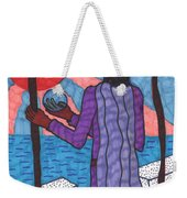 Tarot Of The Younger Self Two Of Wands Weekender Tote Bag