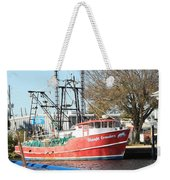 Tarpon Springs Shrimp Boat Weekender Tote Bag