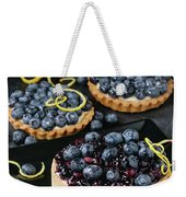 Tart With Blueberries Weekender Tote Bag