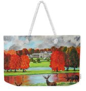 Tatton Hall In Autumn Weekender Tote Bag