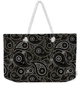Taupe Brown Paisley Design Weekender Tote Bag