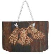 Tawny Owl In Flight Weekender Tote Bag