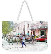 Taxi Battle At The Floridita Weekender Tote Bag