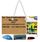 Taxi Booking Application Weekender Tote Bag