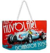 Tazio Nuvolari Auto Union D Donnington 1939 Weekender Tote Bag